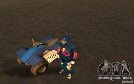 Red Bull Clothes v1.0 for GTA San Andreas second screenshot