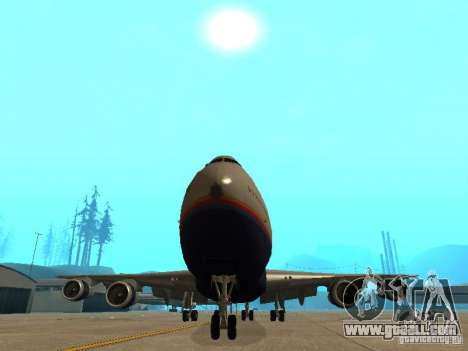 Boeing 747-100 United Airlines for GTA San Andreas inner view