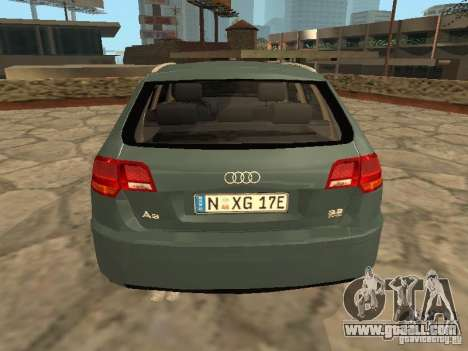 Audi S3 Sportback 2007 for GTA San Andreas right view