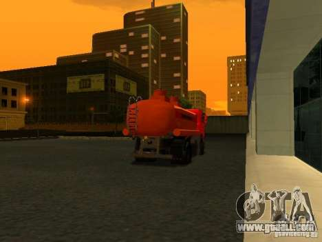 MAZ Truck for GTA San Andreas back left view