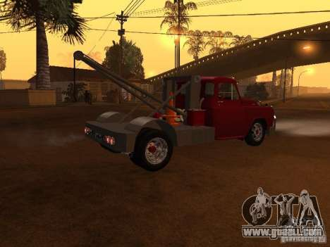 Dodge Towtruck for GTA San Andreas back left view