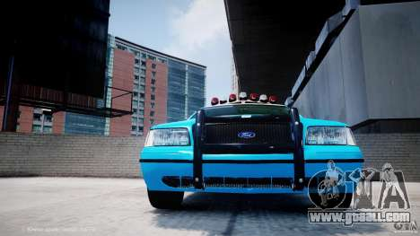 Ford Crown Victoria Classic Blue NYPD Scheme for GTA 4 bottom view