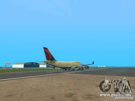 Boeing 747-400 Delta Airlines for GTA San Andreas right view