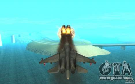 The Su-34 for GTA San Andreas inner view