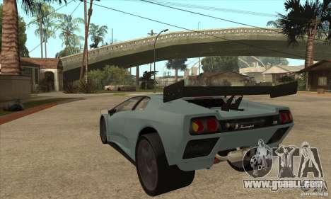 Lamborghini Diablo GT-R for GTA San Andreas back left view