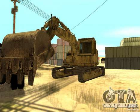 Excavator for GTA San Andreas back left view