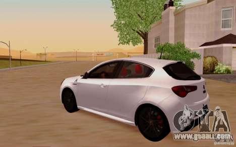 Alfa Romeo Giulietta 2010 for GTA San Andreas side view