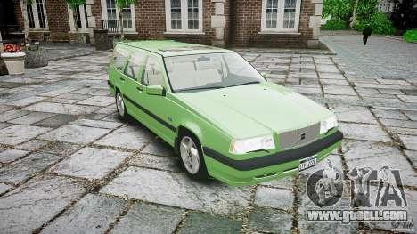Volvo 850 Turbo 1996 for GTA 4 inner view