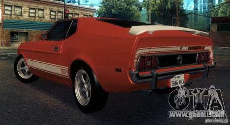 Ford Mustang Mach1 1973 for GTA San Andreas right view
