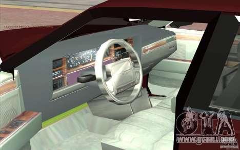Chrysler Dynasty for GTA San Andreas back view