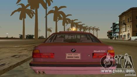 BMW 540i e34 1992 for GTA Vice City inner view