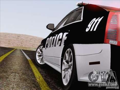 Cadillac CTS-V Police Car for GTA San Andreas upper view