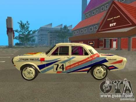 Volga GAZ 24-10 Rally for GTA San Andreas left view