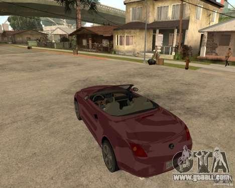 Lexus SC430 for GTA San Andreas back left view