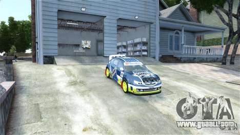 Subaru Impreza WRX STI Rallycross SHOEL Vinyl for GTA 4 right view