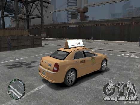 Chrysler 300c Taxi v.2.0 for GTA 4 back left view