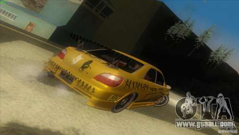 Subaru Impreza WRX No Fear for GTA San Andreas left view