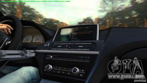 BMW M6 2013 for GTA Vice City right view