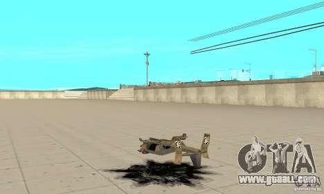 Hawk for GTA San Andreas back left view