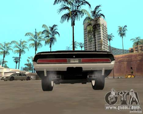 1970 Dodge Challenger R/T for GTA San Andreas back left view