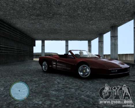 Ferrari Testarossa for GTA 4 left view