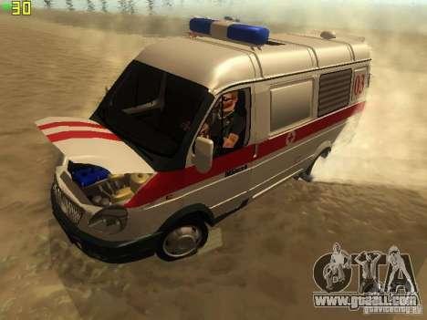 Gazelle 32214 Ambulance for GTA San Andreas back view