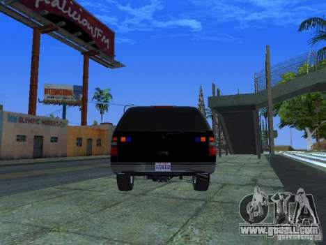 Chevrolet Suburban Los Angeles Police for GTA San Andreas back left view