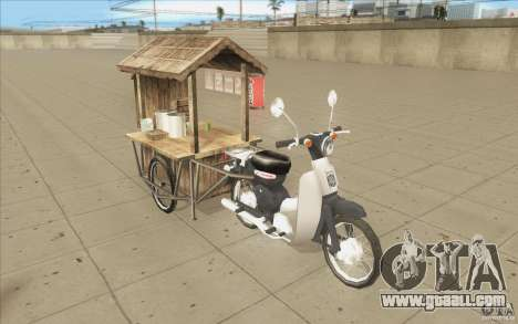 Honda Super Cub with a cart for GTA San Andreas inner view