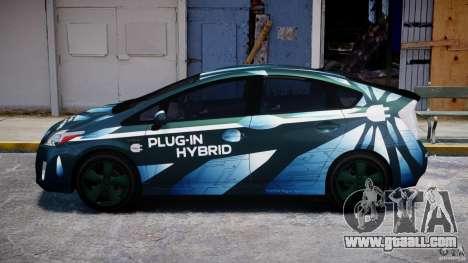 Toyota Prius 2011 PHEV Concept for GTA 4 left view