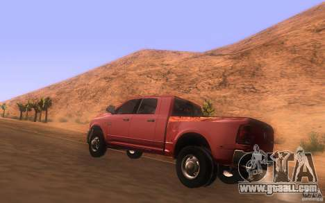 Dodge Ram 3500 Laramie 2010 for GTA San Andreas back left view