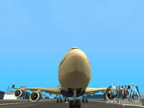 Boeing 747-400 Delta Airlines for GTA San Andreas side view