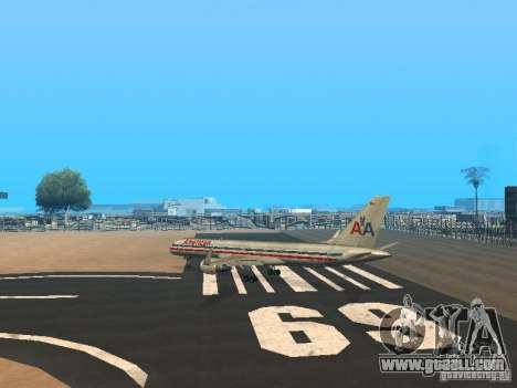 Boeing 757-200 American Airlines for GTA San Andreas back left view