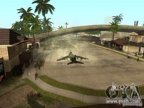 Camouflage for Hydra for GTA San Andreas back left view