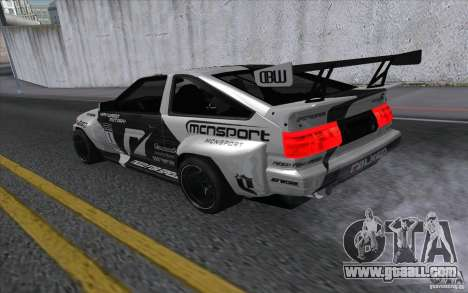 Toyota Corolla AE86 Shift 2 for GTA San Andreas left view