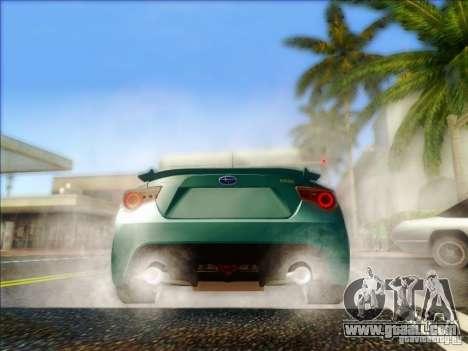 Subaru BRZ S 2012 for GTA San Andreas right view