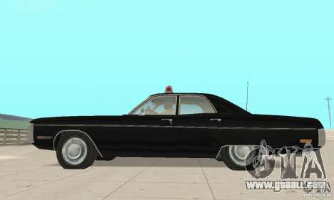 Plymouth Fury III Police for GTA San Andreas right view