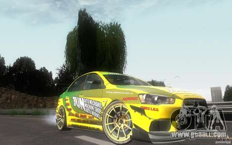 Mitsubishi Lancer Evolution X Gymkhana for GTA San Andreas right view