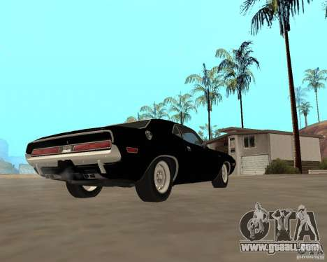 1970 Dodge Challenger R/T for GTA San Andreas right view