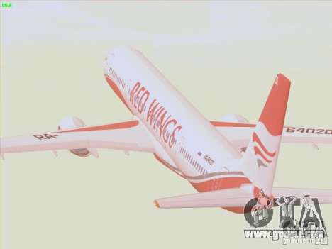 Tupolev Tu-204 Red Wings Airlines for GTA San Andreas side view