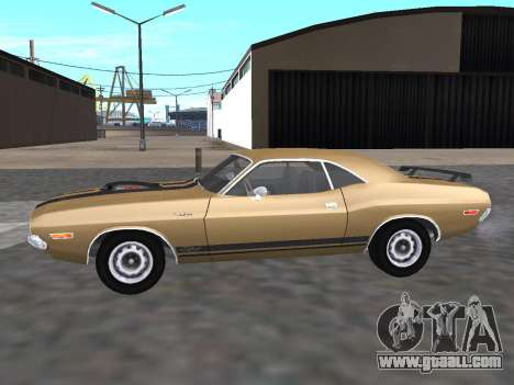 Dodge Challenger 440 Six Pack 1970 for GTA San Andreas left view