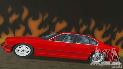 BMW 540i e34 1992 for GTA Vice City back view