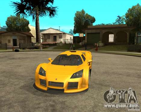 Gumpert Appolo for GTA San Andreas back view