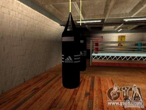 New boxing punching bag for GTA San Andreas