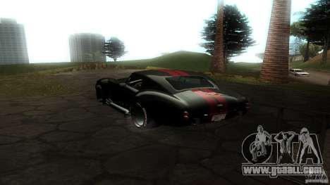 Shelby Cobra Dezent Tuning for GTA San Andreas back left view
