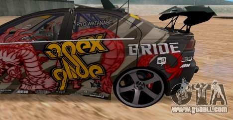 Mitsubishi Lancer Evolution RYO Vatanabe for GTA San Andreas back view