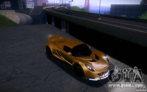 Hennessey Venom GT 2010 V1.0 for GTA San Andreas back view