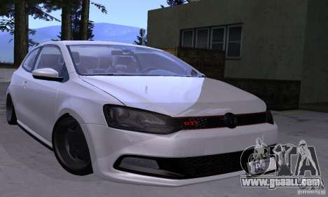 Volkswagen Polo GTI Stanced for GTA San Andreas back view