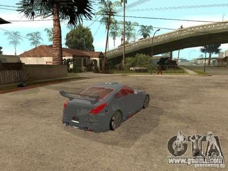 Nissan 350Z Virgo for GTA San Andreas back left view