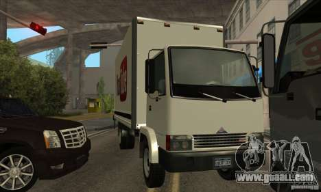 Truck with logo YouTube for GTA San Andreas right view