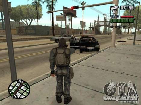 Stalker mercenary in mask for GTA San Andreas fifth screenshot